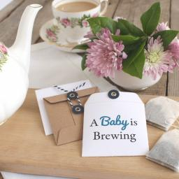 Tea bag envelopes x 25 (baby is brewing)