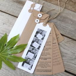 Photo Booth Wedding Invitations x 25