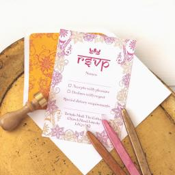Taj Mahal Collection RSVP Cards and Envelopes x 25