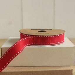 RED Stitched Ribbon - 3m roll