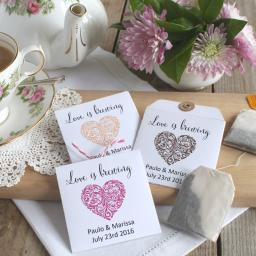 Tea bag envelopes x 25 (vintage heart)