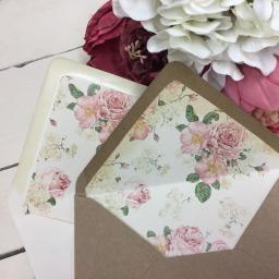 Old Country Rose Envelope Liner - C6