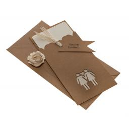 Belle Femme Brown Kraft DL invitation Sleeves with FREE mini tags x 50
