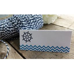 chevron place Cards x 50