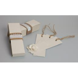 Vintage Cream Fleck Bookmark blanks ( pack of 50)