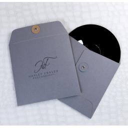 CD GREY PRINTED String Tie Envelopes x 50