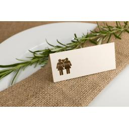 Laser cut Belle Femme Table place cards -all colours
