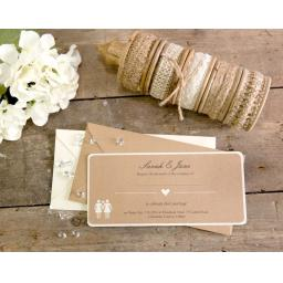 Belle Femme DL Wedding Invitations x 25