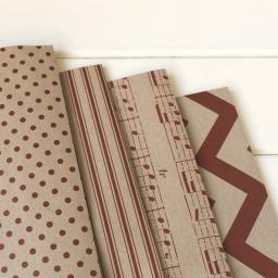 Ticking Stripe Vintage RED Wrapping Paper