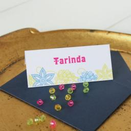 Darjeeling Design Place Cards x 50 (personalised)
