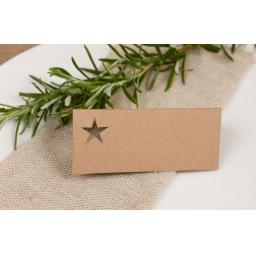Laser cut STAR Table place cards -all colours
