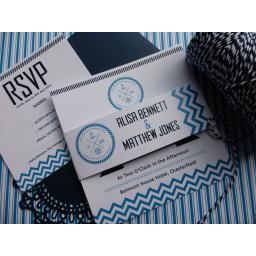 Chevron design - full square invitation set