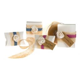 Vintage cream fleck Rectangular favour boxes ( pack of 50)