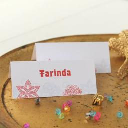 Kerala Collection Design Place Cards x 50 (personalised)