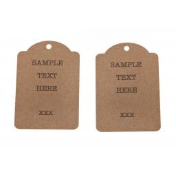Medium Printed luggage tags x 50 - personalised (luggage top)