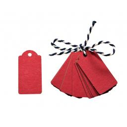Mini RED kraft luggage tags x 50