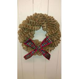 Brown Kraft Christmas Wreath Kit