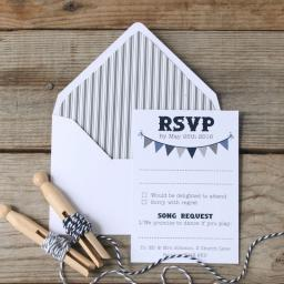The Bunting Collection - RSVP cards x 25