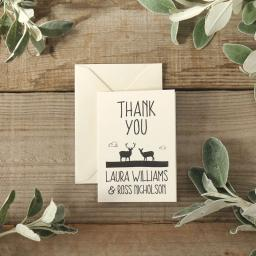 Whimsical stag - thank you cards - pack of 50 with matching envelopes