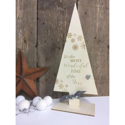 Wood Christmas Tree (grey)
