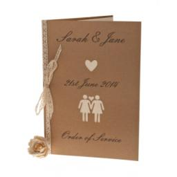 Belle Femme - Brown kraft order of Service Booklets