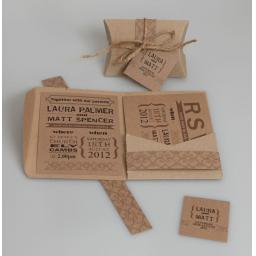 Brown Kraft A6 Pocketfold Wallets (pack of 50)