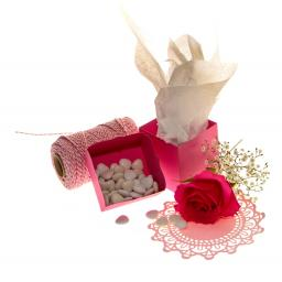 Cerise Pink Favour Boxes - pack of 50