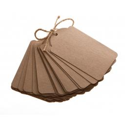 Medium Brown kraft luggage tags x 50