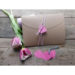 plain heart tags x 50