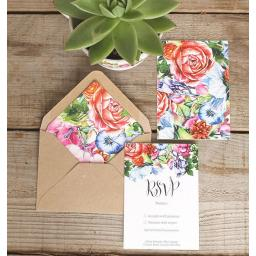 Botanical Blooms RSVP Cards and Envelopes x 25 (colour set 1)