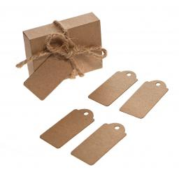 Mini Brown kraft luggage tags x 50