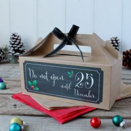 Black Chalk Christmas Gift Box - do not open