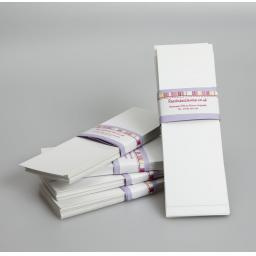 White Card Bookmark blanks ( pack of 50)