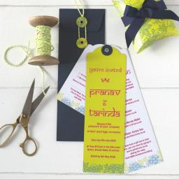 Darjeeling Bookmark Invitations and envelopes (set of 25)