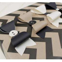 Black, kraft and cream mixed Paper Bows x 10