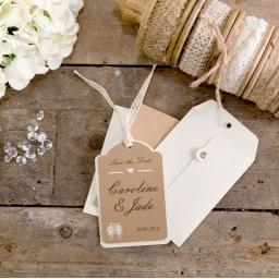 Belle Femme SAVE THE DATE luggage tags