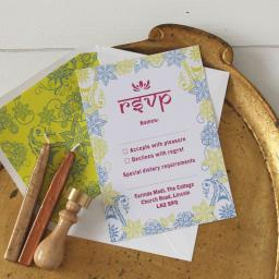 Darjeeling RSVP Cards and Envelopes x 25