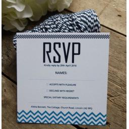 Chevron design - full square invitation set