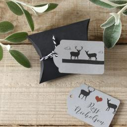 whimsical Stag small tags x 50 (personalised)