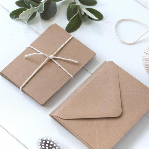 Recycled Kraft postcards A6 pack of 50 ( 275gsm)
