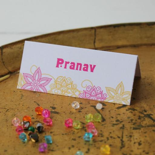 Taj Mahal Collection Design Place Cards x 50 (personalised)