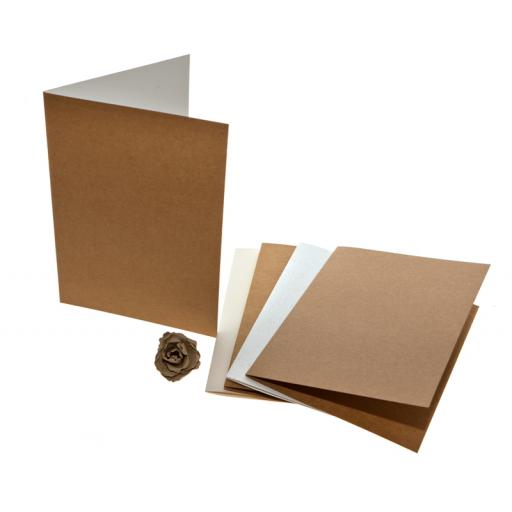 A4 folded Cards (A5 size when folded) pack of 25 no envelopes