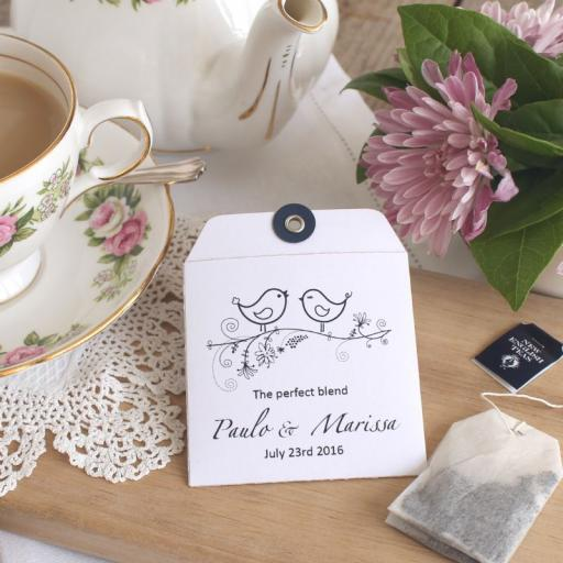 Tea bag envelopes x 25 ( love birds)
