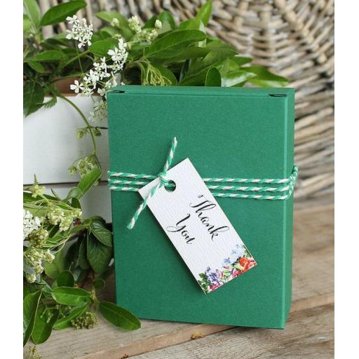 Botanical blooms rectangular tags x 50