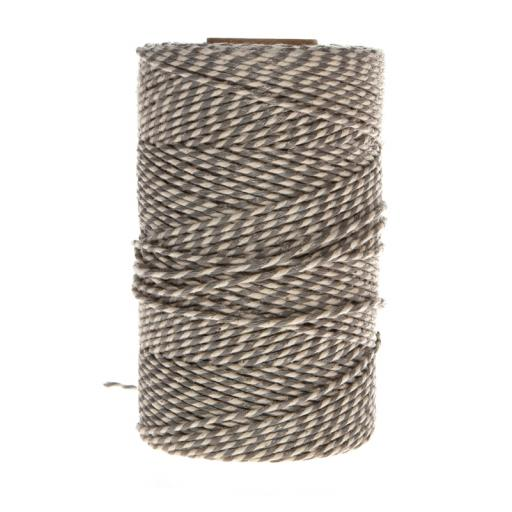 GREY AND WHITE Bakers Twine - 20 metre spool