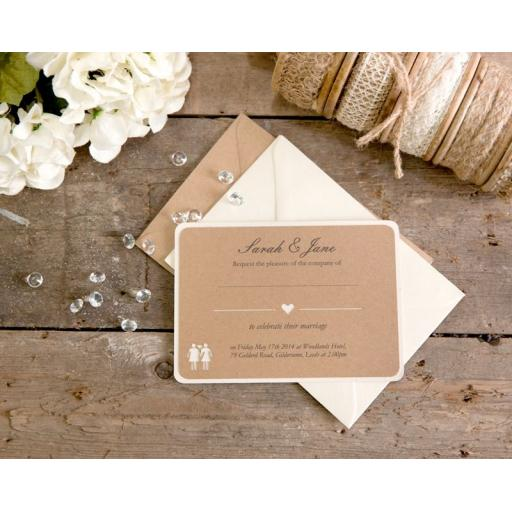 Belle Femme A6 Wedding Invitations x 25