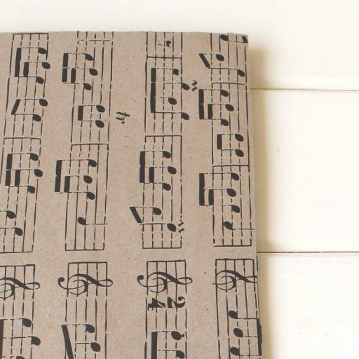 Vintage BLACK Music Wrapping Paper