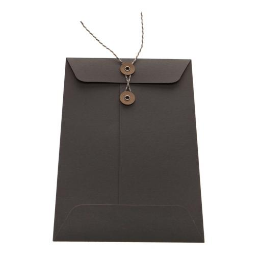 105mm GREY String Tie Envelopes x 25