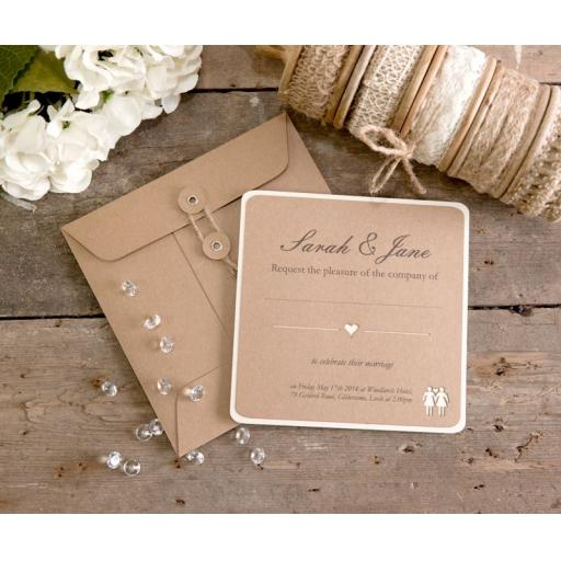 Belle Femme Square Wedding Invitations x 25