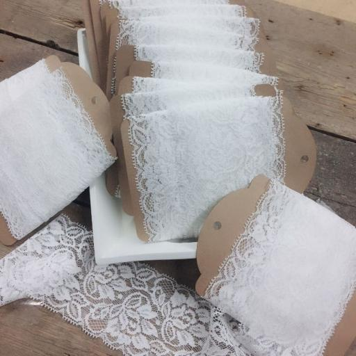 White Rose Wide Lace 6.5cm Width x 300m (full reel)